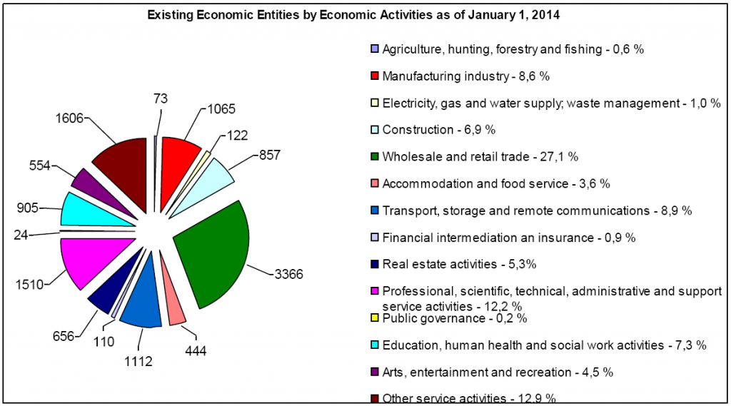 Existing Economic Entities by Economic activities